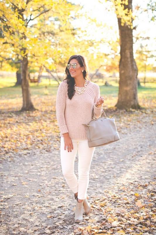 розовый джемпер с чем носить фото этими